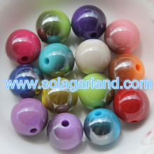 6-20MM Super Shiny Plastic Juicy Globe Beads Metallic Two Tone