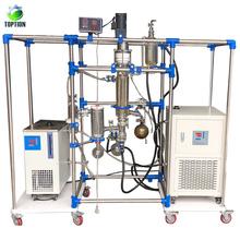Destilador de destilación / destilación de corto alcance para ahorro de espacio