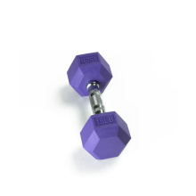 15LB Farbe Rubber Hex Dumbbell