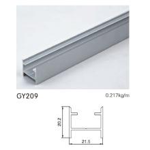 Puerta de puerta de aluminio anodizado de aluminio
