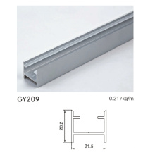 Anodised Silver Aluminum Wardrobe Door Track