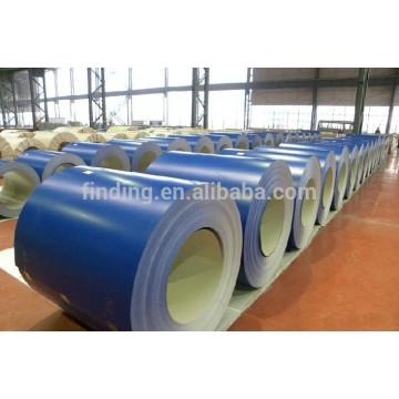 0,14 mm ~ 0,6 mm chaud plongé galvanisé acier bobine/feuille/rouleau GI pour toiture tôle ondulée et pré-peint bobine