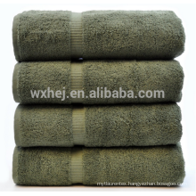 china wholesale 600 gram 100% Cotton 4 Piece Bath Towel, moss