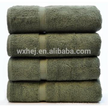 china wholesale 600 gram 100% Cotton 4 Piece Bath Towel, moss
