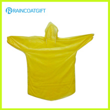 Rpe-065 Disposable PE Rain Poncho with Elastic Sleeve