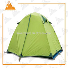 Deporte al aire libre bicapa aluminio poste dos impermeable camping gran persona tienda de silicona tela tienda