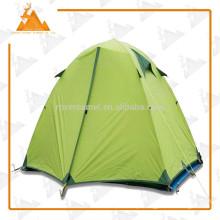 Esporte ao ar livre BICAMADA alumínio polo grande acampamento dois impermeável pessoa tenda do silicone barraca da tela