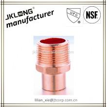 Adaptador para tubos de cobre adaptador macho C x M UPC NSF