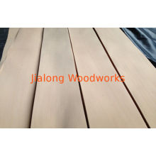 Red Beech Quarter Cut Veneer With Yellow And Uniform Color