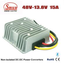 Водонепроницаемый 48vdc к 13.8 В постоянного тока 15А 207W постоянного тока DC понижающий преобразователь