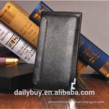 2014 hot sale classic black long leather wallet men