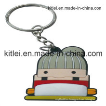 Fashion PVC Fancy Customed Silicone Plastic Engraved Key Ring