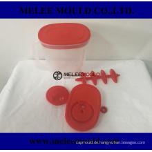 Plastikkrugform mit austauschbaren Einsätzen