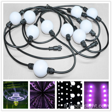 Changement de couleur rgb dmx led ball 3D