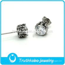 TKB-E0084 Lotus Flower Jewelry Set Stainless Steel Ball Stud Earrings for Boys