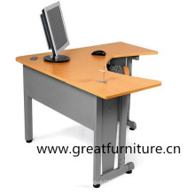 L-Shaped Freestanding Workstation W Modesty Panel with Resistant Paint Finish
