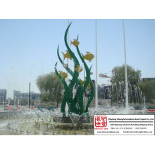Fish And Sea-Plant Fountain Sculpture
