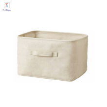 bolso plegable de la caja de almacenamiento del algodón de la fábrica / caja plegable del compartimiento de almacenamiento del cubo / cesta de almacenamiento de escritorio de la oficina