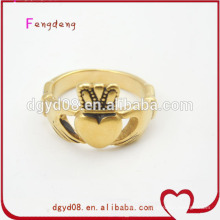 Stainless steel gold crown ring manufacturer