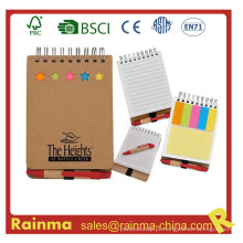 Mini Notebook com Memory Stickery e Ball Pen