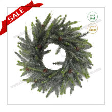 Venta al por mayor Atificial Navidad Atificial Coronas Blanco con la promoción de precios H30-H48cm
