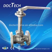 Acier inoxydable & carbone robinets à tournant sphérique en acier cryogénique PN16/PN25