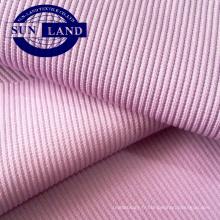 Fournisseur chinois tricoté coton spandex 2 * 2 côtes tissu