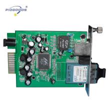Card type Gigabit Low Cost Fiber Optic Transceiver single mode 20-80km distance reach China providers