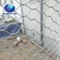 Aviary Zoo Mesh Netting kleine Stahlseil Drahtgewebe Beliebte X-tend Edelstahlseilnetz