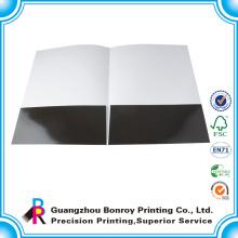 Impreso en una cara Impresión de carpeta de archivo de papel personalizado hecho a mano
