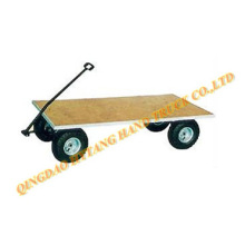 Plat form wooden tool cart