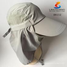 Deportes unisex Senderismo Gorra de pesca Gorra de cuello Flap Protección UV Sombrero de béisbol hombre