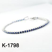 Мода Серебряный Micro Pave CZ Установка ювелирных браслет (K-1798. JPG)