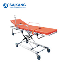 SKB039(G) Ambulance Adjustable Hospital Transfer Stretcher Trolley