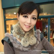 Lady Fashion Rabbit Fur Scarf (YKY4360)
