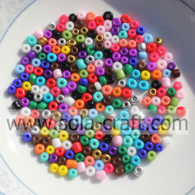Colorful Opaque Glass Seed Beads With Large Hole For Decoration