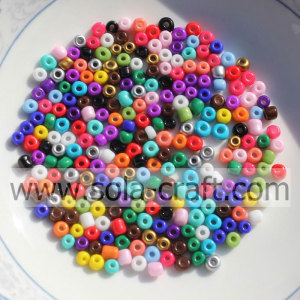 New Style Of Beads Sparking Solid Round Glass Seed Beads With Hole