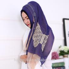Eid al-Adha item moda novas mulheres elegantes muçulmano rendas xale de pedra shimmer glitter cachecol hijab
