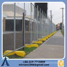 La alta calidad 50 * 50m m galvanizó la cerca intermedia del acoplamiento de cadena / la cerca de enlace de cadena temporal / la cerca de la conexión de cadena con los soportes