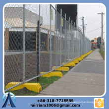 High quality 50*50mm galvanized chain link temporary fence/temporary chain link fence/ chain link fence with stands