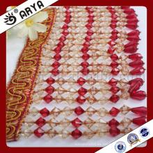 Hangzhou taojin textil larga fila perlas franja para la decoración de la cortina y otros textiles para el hogar