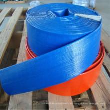 La tubería del PVC de 6 pulgadas pone la manguera plana 8bar