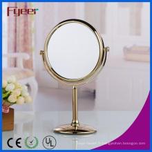 Miroir de table de maquillage rond plaqué or moderne Fyeer (M5108G)