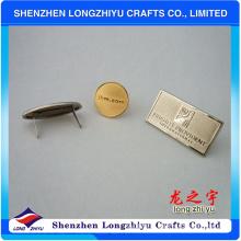 Профессиональный дизайн Бейдж металлический логотип для сумки