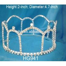 Couronne suédoise peigne en métal wuku perles de cristal couronne tiare pièce tiare écran support tiaras en argent