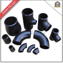 Raccords de tuyaux noirs en acier au carbone soudés bout à bout (YZF-PZ109)