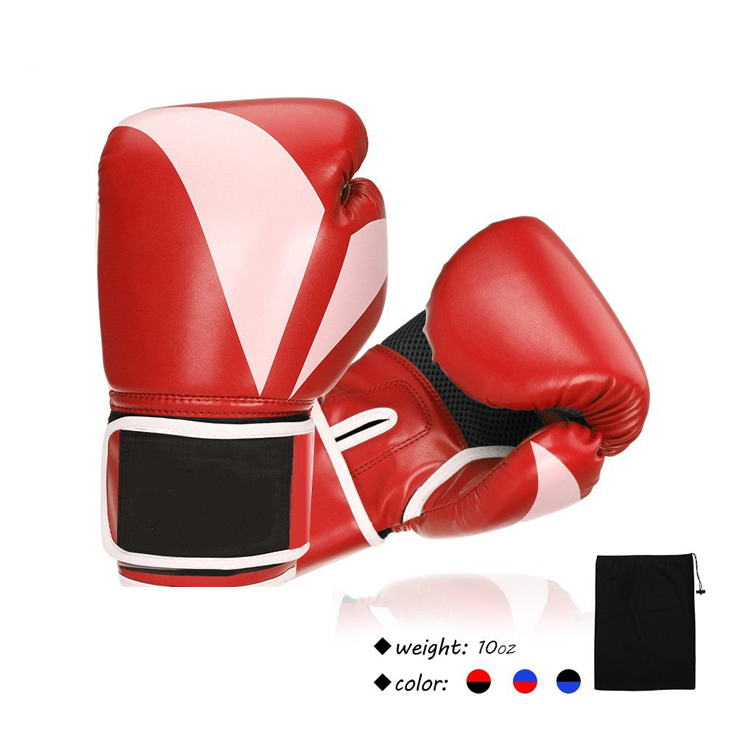 Custom Logo Pu Boxing Gloves Bag Muay Thai Kick Boxing Gloves Punching Mma Training Taekwondo Lace Professional Gloves