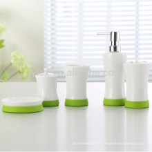ensemble de salle de bain avec silicone, ensemble de 5, ensemble de salle de bain coloré
