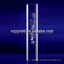 K9 3D Laser Bambus geätzt Kristall mit Säulenform