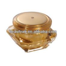 Embalaje elegante del frasco del diamante del acrílico cosmético para la crema